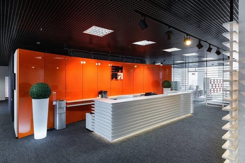 Элитный ремонт офисов в Москве: интерьер в стиле фьюжн